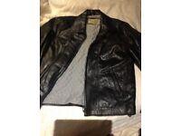 Leather jacket - large