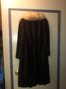 3/4 Length Leather & Suede Coat
