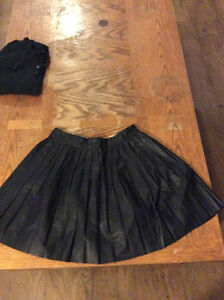 Pleather Skirt - Size Small