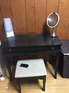 Linon Kendall Vanity Set with Stool