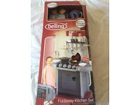 Belling foldaway toy kitchen with over 20 accessories