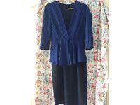 Vintage dress & jacket. 1980's size 10-12