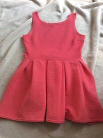 Size 12 Boohoo peach/pink ribbed dress