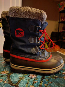 "Boys Size 2 Sorel ""Yoot Pac"" Waterproof Winter Boots, EUC London Ontario image 1"