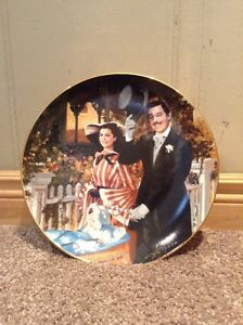 Gone With The Wind collectible plate 1989-ltd edition numbered