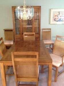 8 piece Wood Dining Room suite with China Cabinet