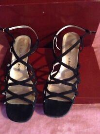 Roberto Vianni suede sandals size 5/38 £5
