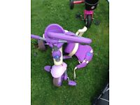 Smart trike with parent handle
