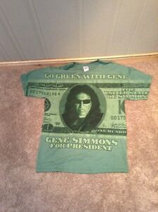"""Gene Simmons for President"" green T-shirt Kitchener / Waterloo Kitchener Area image 1"