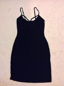 Boohoo Black Cut Out Dress size 8