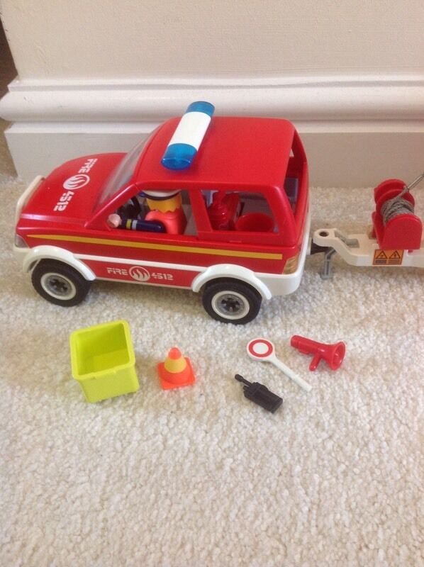 Playmobil Fire Car Boat And Trailer In Neath Neath