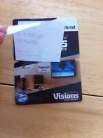 Visions gift card