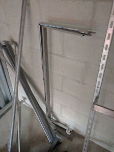Circular, square racks, beams & arms, hooks, dollies, flatbed