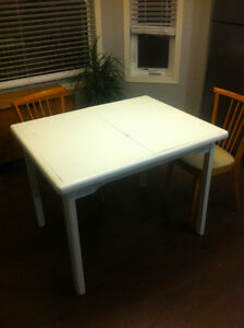 Vintage style kitchen table with chairs