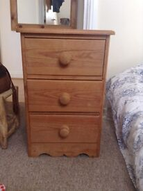 Vintage solid wood draws