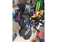 Ping leather cart bag