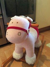 Mamas and papas pink rocking horse