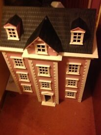 Large dolls house with loads of furniture