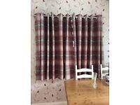 Dunhelm highland red eyelet curtains