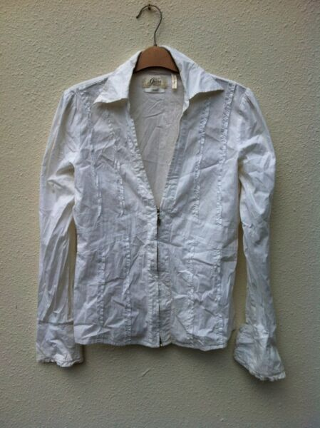 Genuine Guess Stretch Blouse Size L. In good condition.