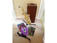 Arbiter Pro Sound Alto Saxophone and accessories pre-owned