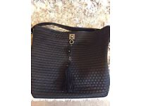 Moschino black quilted bag