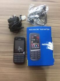 Nokia asha 300 touch mobile phone as new on virgin