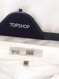 TOPSHOP MOTO White Jamie Jeans