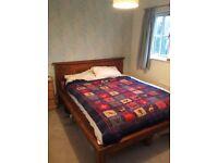 King size mango wood double bed frame