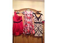 Three beautiful size 10 dresses 2 are lipsy .
