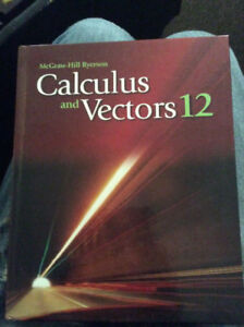 McGrawHill Ryerson Calculus and Vectors 12 Hardcover Textbook