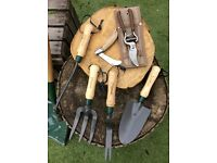 Premium Gardening tools, spade, hand shovel, onion hoe, daisy grubber, onion hoe.
