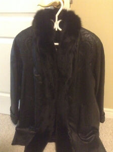 Brand new di pilla leather and fur jacket