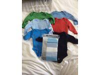 Baby boy 0-3 months bundle, clothes, vests