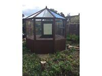 8ft Wooden Hexagonal Greenhouse