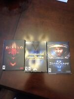 Diablo 3, Starcraft 2, Command and Conquer (first 12 games) PC
