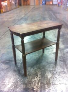 antqiue woos side table.