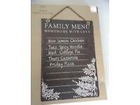 Next Family Menu slate board - new!