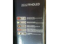 "22"" FULL HD 1080p LED Tv , 22227FHDLED , very good cond. in original box,"