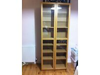 Billy bookcases with glass doors(2)
