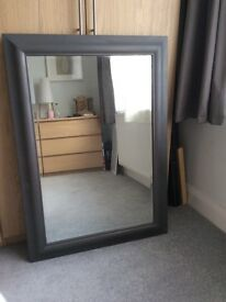 Large Mirror , pewter colour