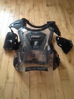Thor quadrant black/clear motocross chest guard