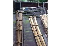 Free fence panels and wood