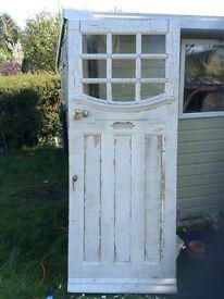1930's classic solid wood front door