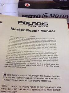 Polaris master repair manual - Snowmobiles