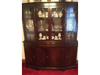 REGENCY STYLE MAHOGANY DRESSER/DISPLAY UNIT