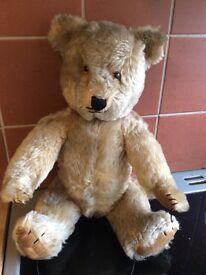 Vintage stuffed teddy bear (good condition) £55