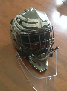 Goalie Junior Helmet with new neck protector + other as per ad