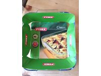 Brand new Pyrex classic microwave cooking dish