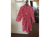 Girls pink dressing gown